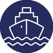 Transport en bateau title=